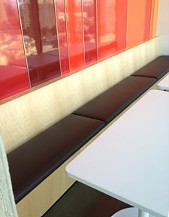 Break room banquette